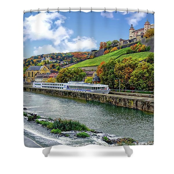 Main River Panorama Shower Curtain