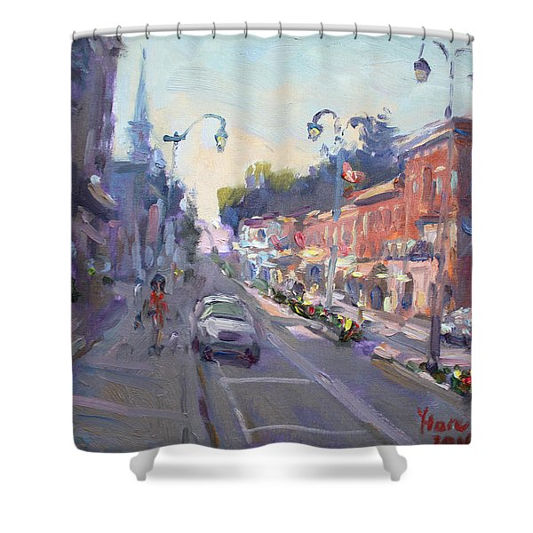 Main St Georgetown Downtown  Shower Curtain