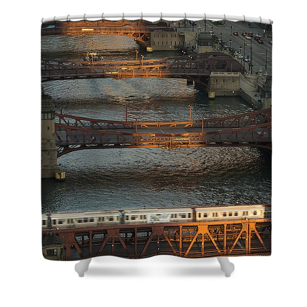 Main Stem Chicago River Shower Curtain