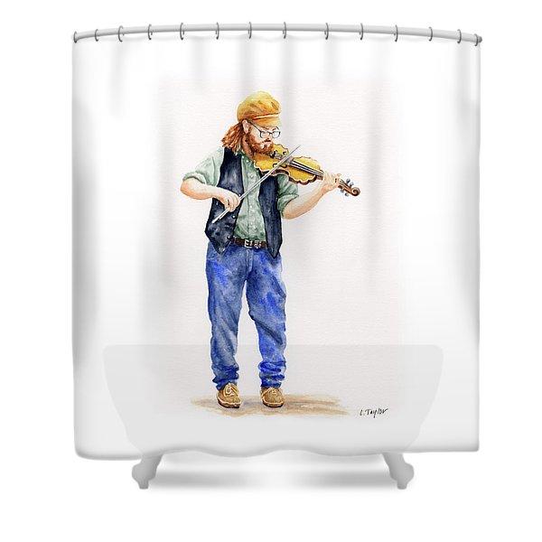 Main Street Minstrel 1 Shower Curtain