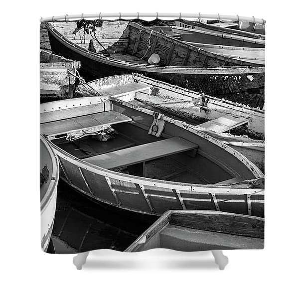 Shower Curtain featuring the photograph Maine Boats by Ranjay Mitra