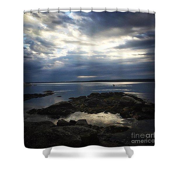 Maine Drama Shower Curtain