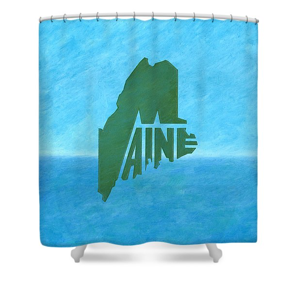 Maine Wordplay Shower Curtain