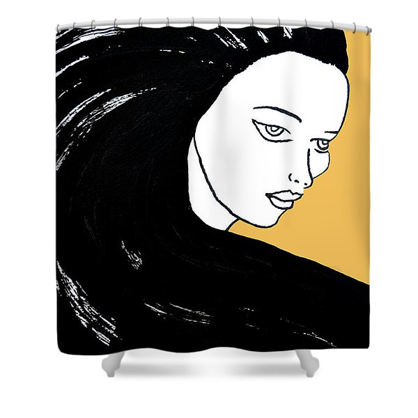 Majestic Lady Mimosa Yellow Pastel Painting 14-0848 F0b59 Shower Curtain
