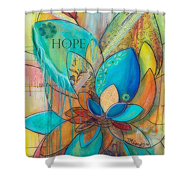Spirit Lotus With Hope Shower Curtain