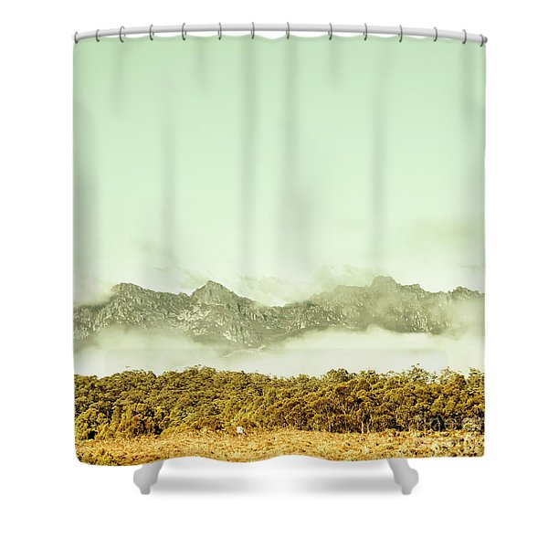Majestic Misty Mountains Shower Curtain