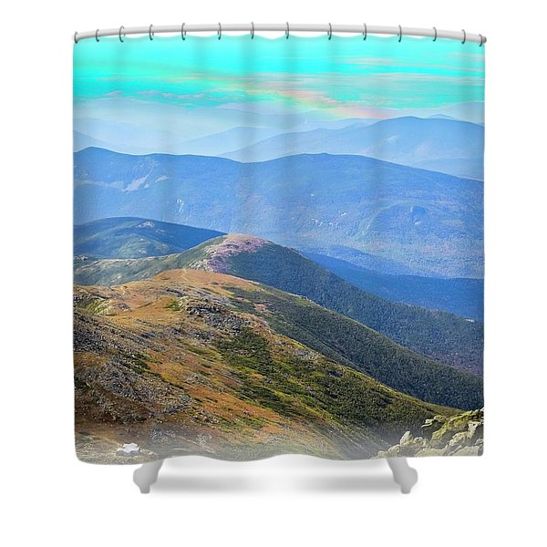 Majestic White Mountains Shower Curtain