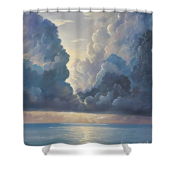 Shower Curtain featuring the painting Majesty by Rosario Piazza