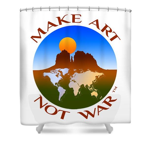 Make Art Not War Logo Shower Curtain