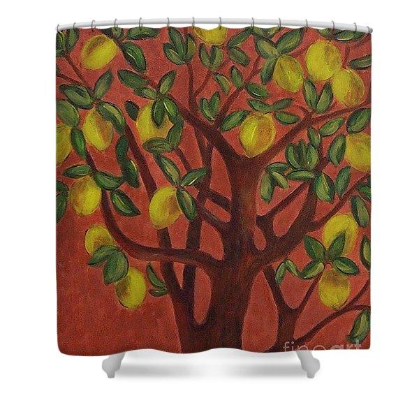 Make Lemon Aid Shower Curtain