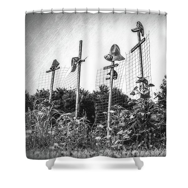 Makeshift Scarecrows Shower Curtain