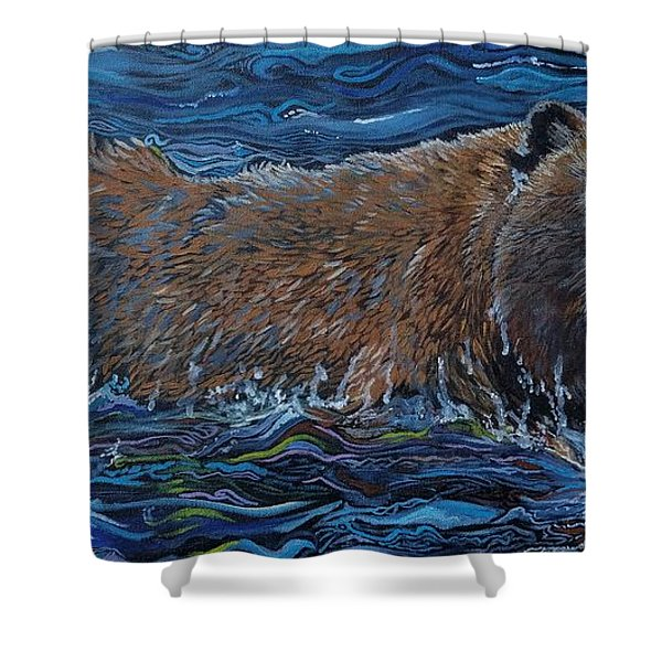 Making Waves Shower Curtain
