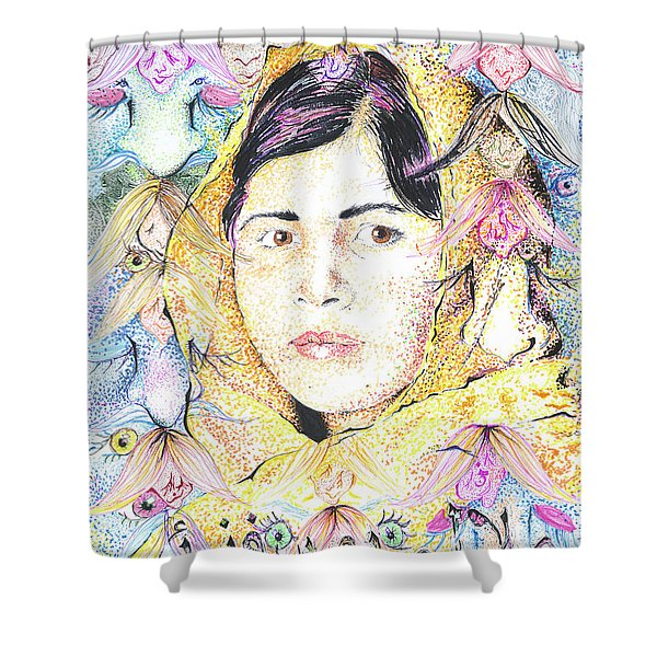 Malala-don't Ignore Us-sombra De Arreguin Shower Curtain