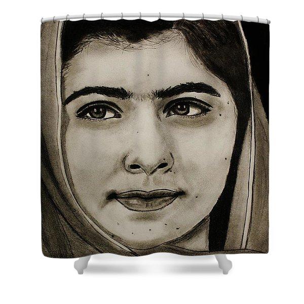Malala Yousafzai- Teen Hero Shower Curtain
