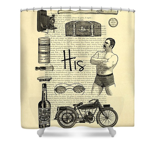 Male Wedding Gift Shower Curtain