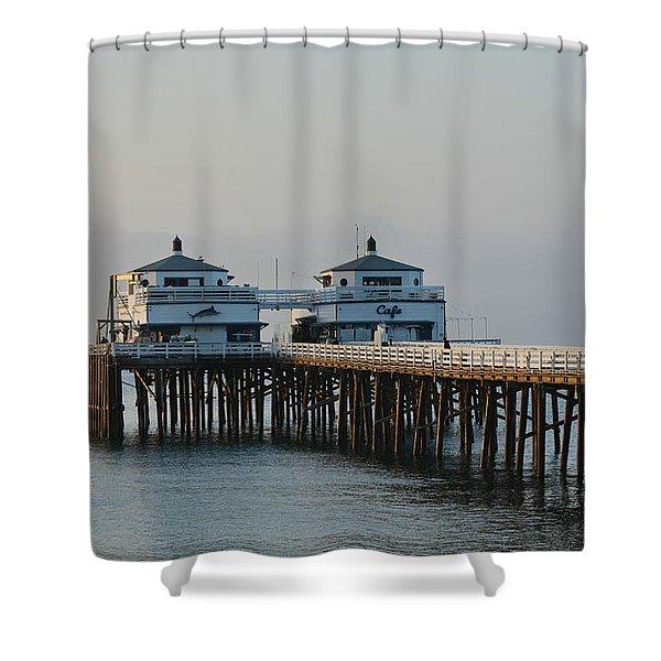 Malibu Pier 2 Shower Curtain