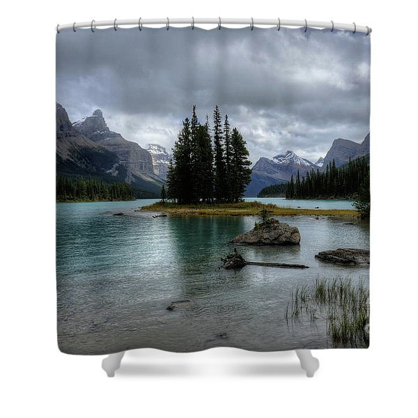 Maligne Lake Spirit Island Jasper National Park Alberta Canada Shower Curtain