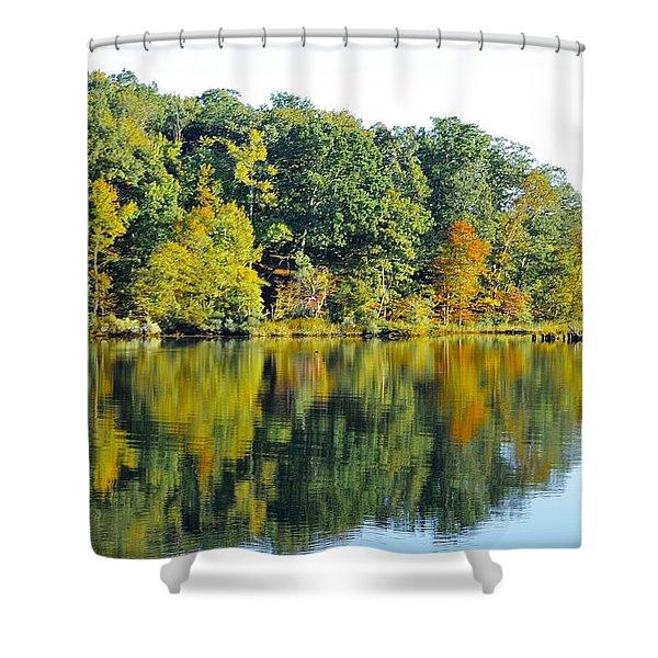 Mallows Bay Shower Curtain