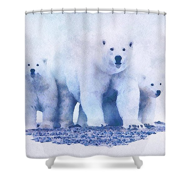 Shower Curtain featuring the painting Mamma Bear  by Mark Taylor