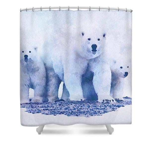 Mamma Bear  Shower Curtain