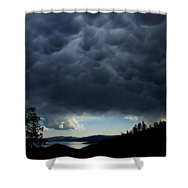 Shower Curtain featuring the photograph Mammatus by Sean Sarsfield