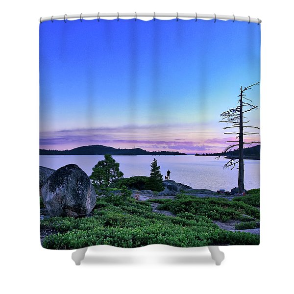 Man And Dog Shower Curtain