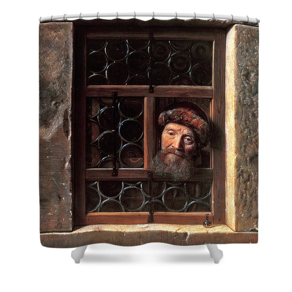 Man At A Window Shower Curtain