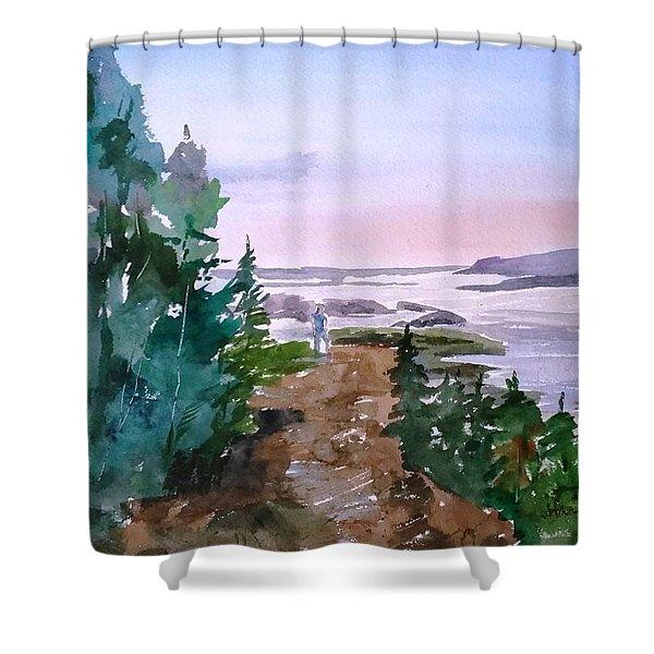 Man At Fraser Lake Bc Shower Curtain