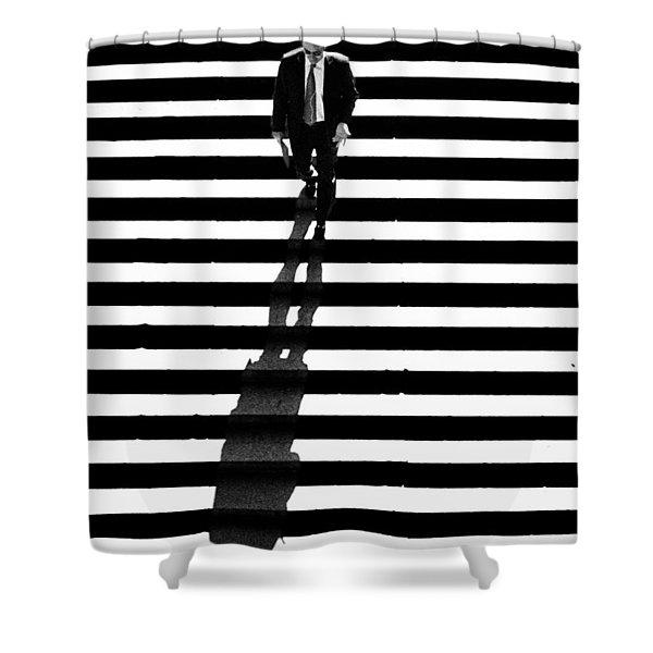 Man Bethesda Steps Shower Curtain