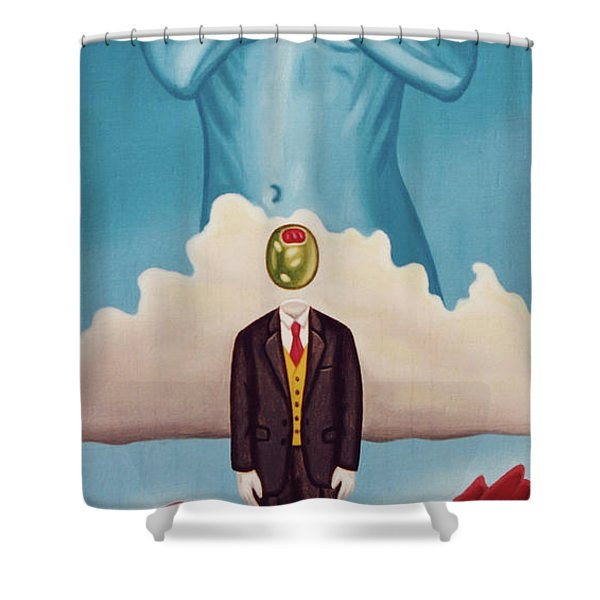 Man Dreaming Of Woman Shower Curtain