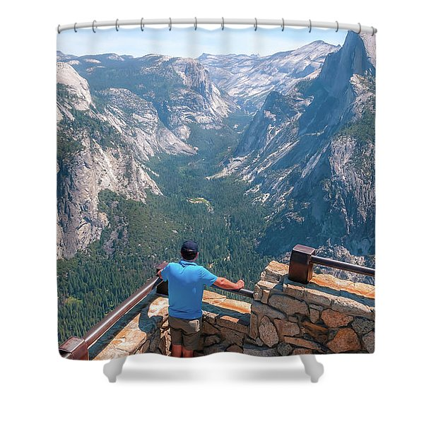 Man In Awe- Shower Curtain