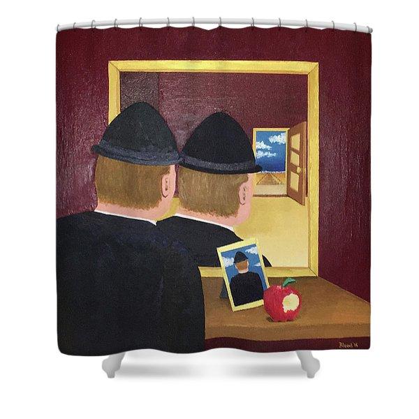 Man In The Mirror Shower Curtain