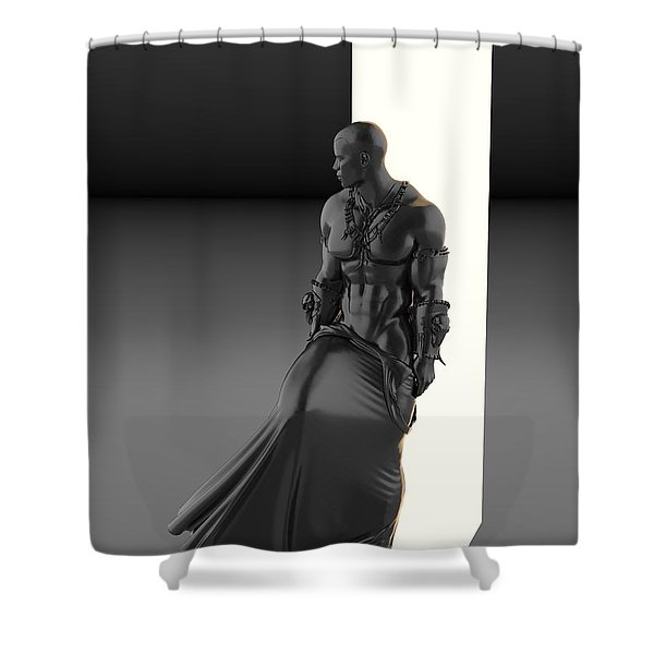 Man Lamp Number Eleven Shower Curtain