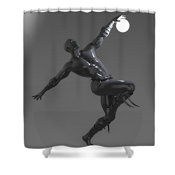 Man Lamp Number Four Shower Curtain