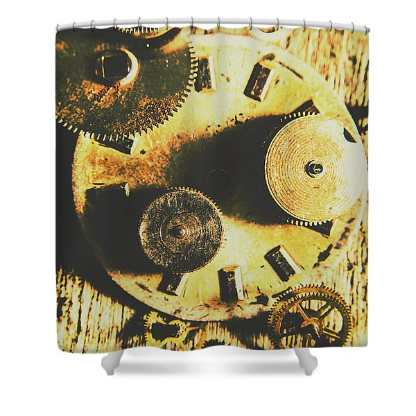 Man Made Time Shower Curtain