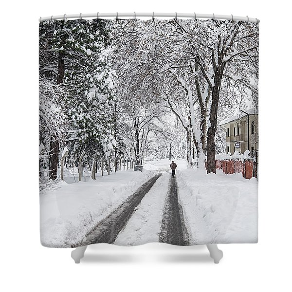 Man On The Road Shower Curtain