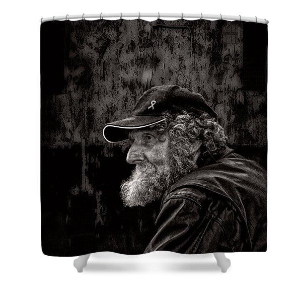 Man With A Beard Shower Curtain