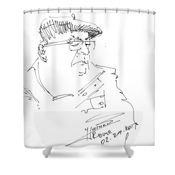 Man With Hat Shower Curtain