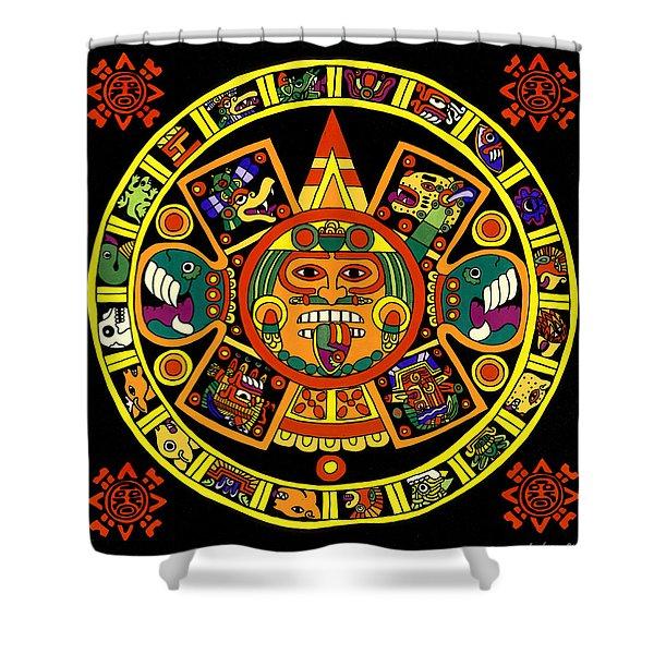 Mandala Azteca Shower Curtain