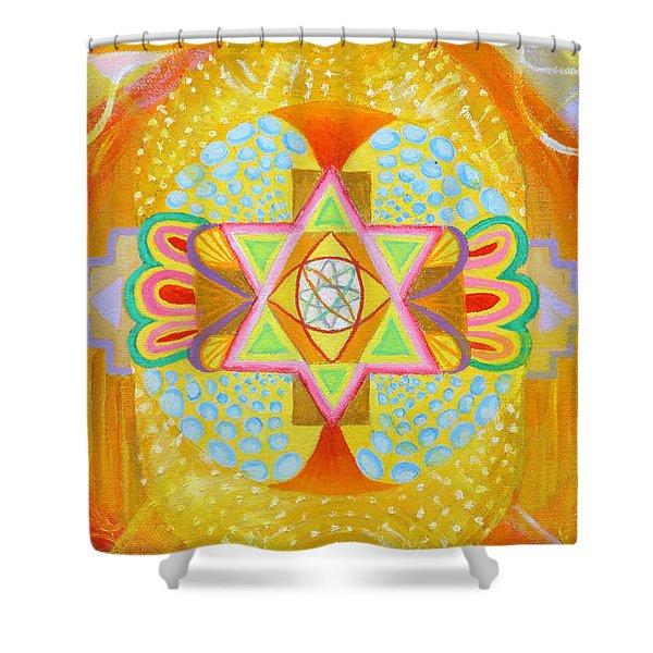Mandala Detail From Gestation Shower Curtain