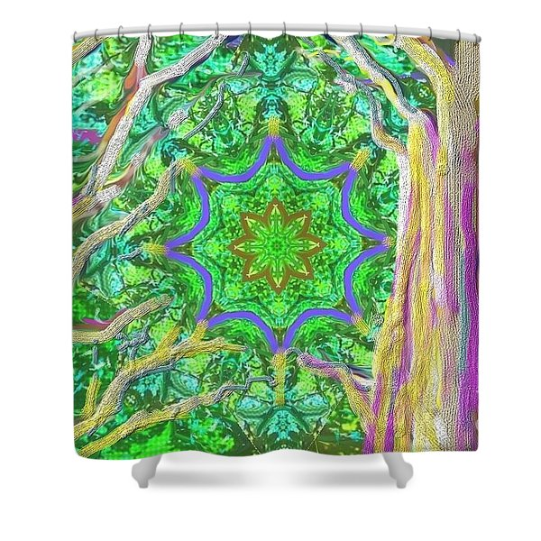 Mandala Forest Shower Curtain