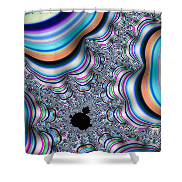 Mandelbrot Set In Colorful Fractal Valley Shower Curtain