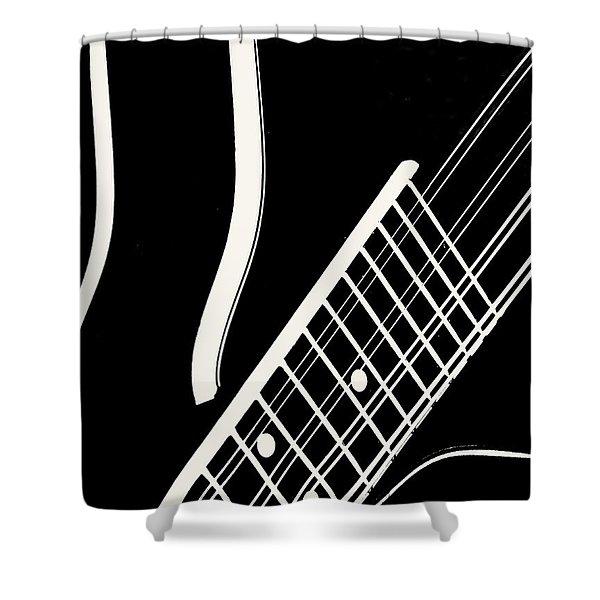 Mandolin Close Bw Shower Curtain