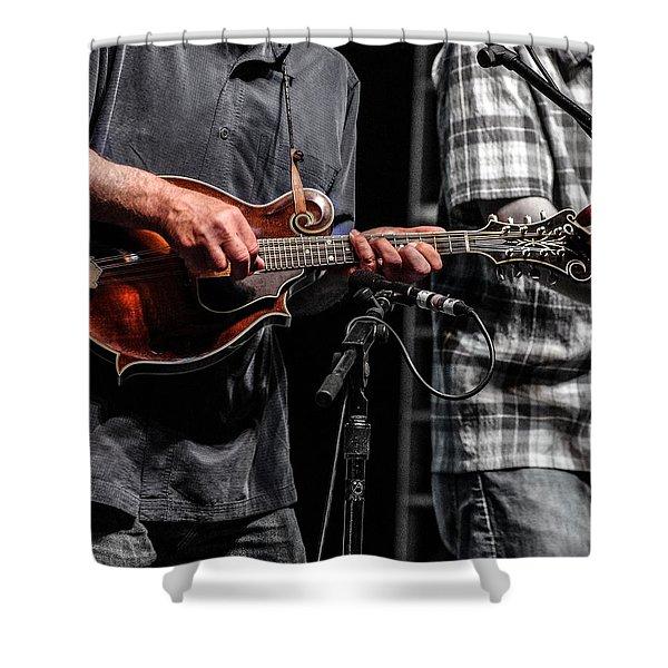 Mandolin Picker Shower Curtain