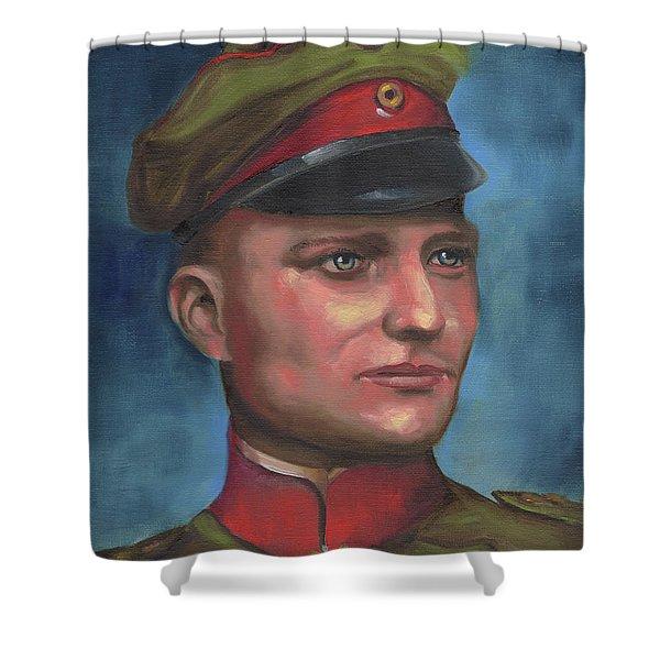 Manfred Von Richthofen The Red Baron Shower Curtain