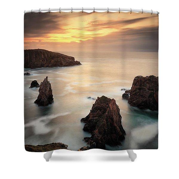 Mangersta Sea Stacks Shower Curtain