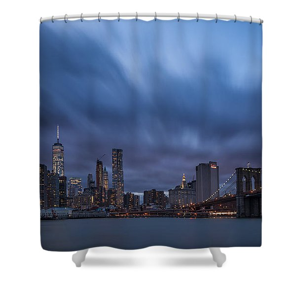 Manhattan And Brooklyn Bridge Shower Curtain
