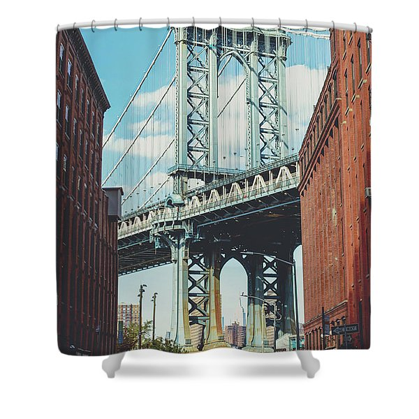 Manhattan Bridge Shower Curtain