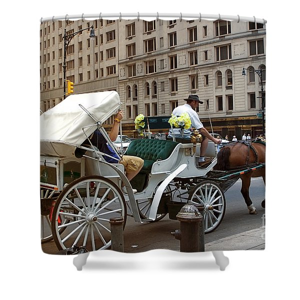 Manhattan Buggy Ride Shower Curtain