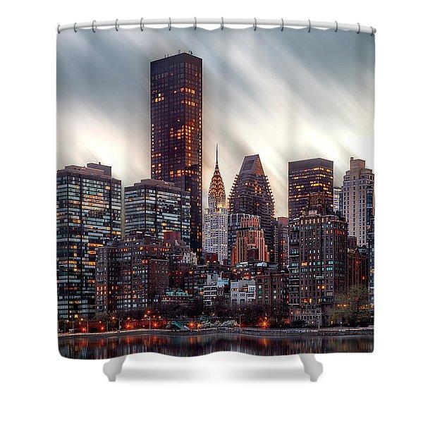 Manhattan Daze Shower Curtain